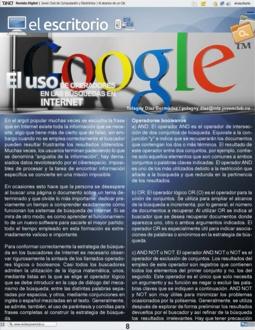 Uso de operadores en las búsquedas en Internet