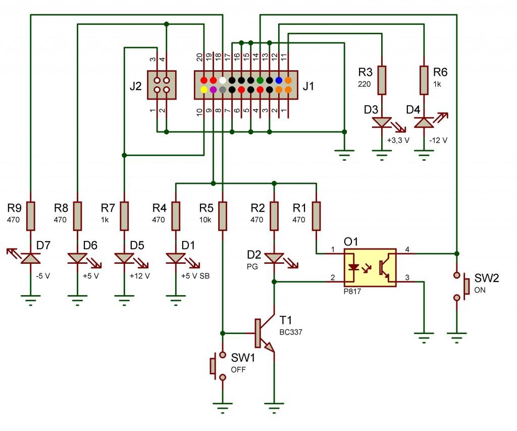 Diagrama del circuito eléctrico.