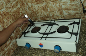 Figura 4: El encendedor en uso