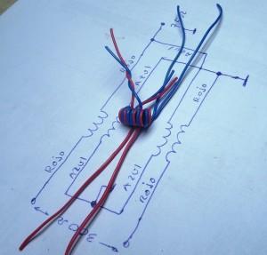 Fig 10. Agrupación de las puntas de los cables, según el circuito del balun