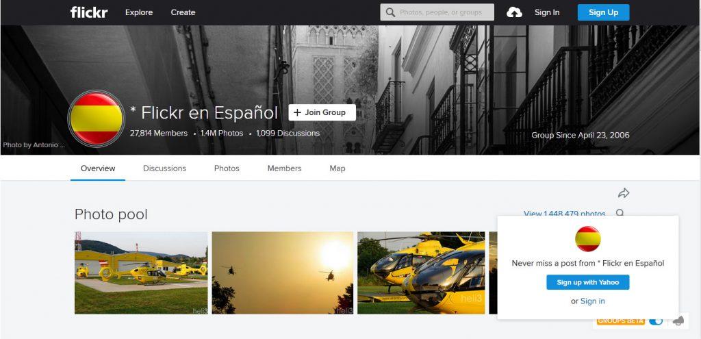 Flickr, en Español