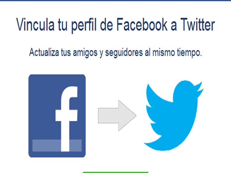vincular tu perfil o página de Facebook con Twitter