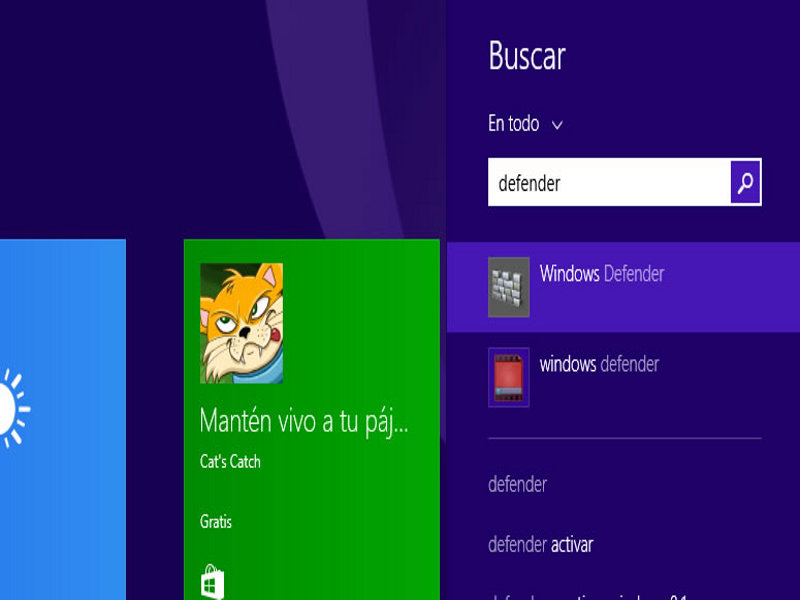 Activar, desactivar y actualizar Windows Defender