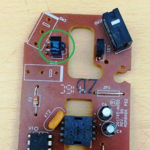 Figura 2. Señalización de los LED infrarrojos en las placas de los ratones de computadora