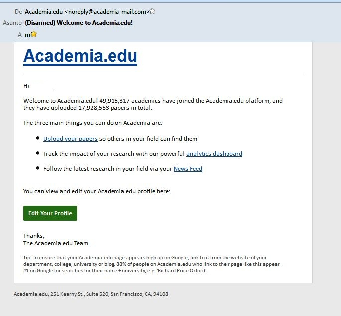 Academia.edu Email