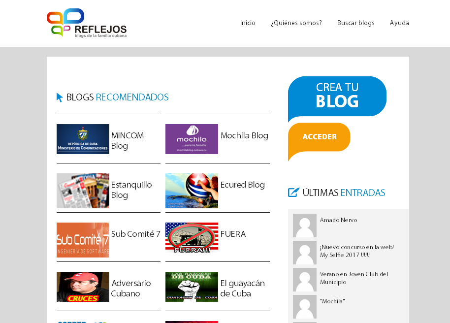 Blogosfera Reflejos
