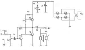 Diagrama eléctrico para los altavoces