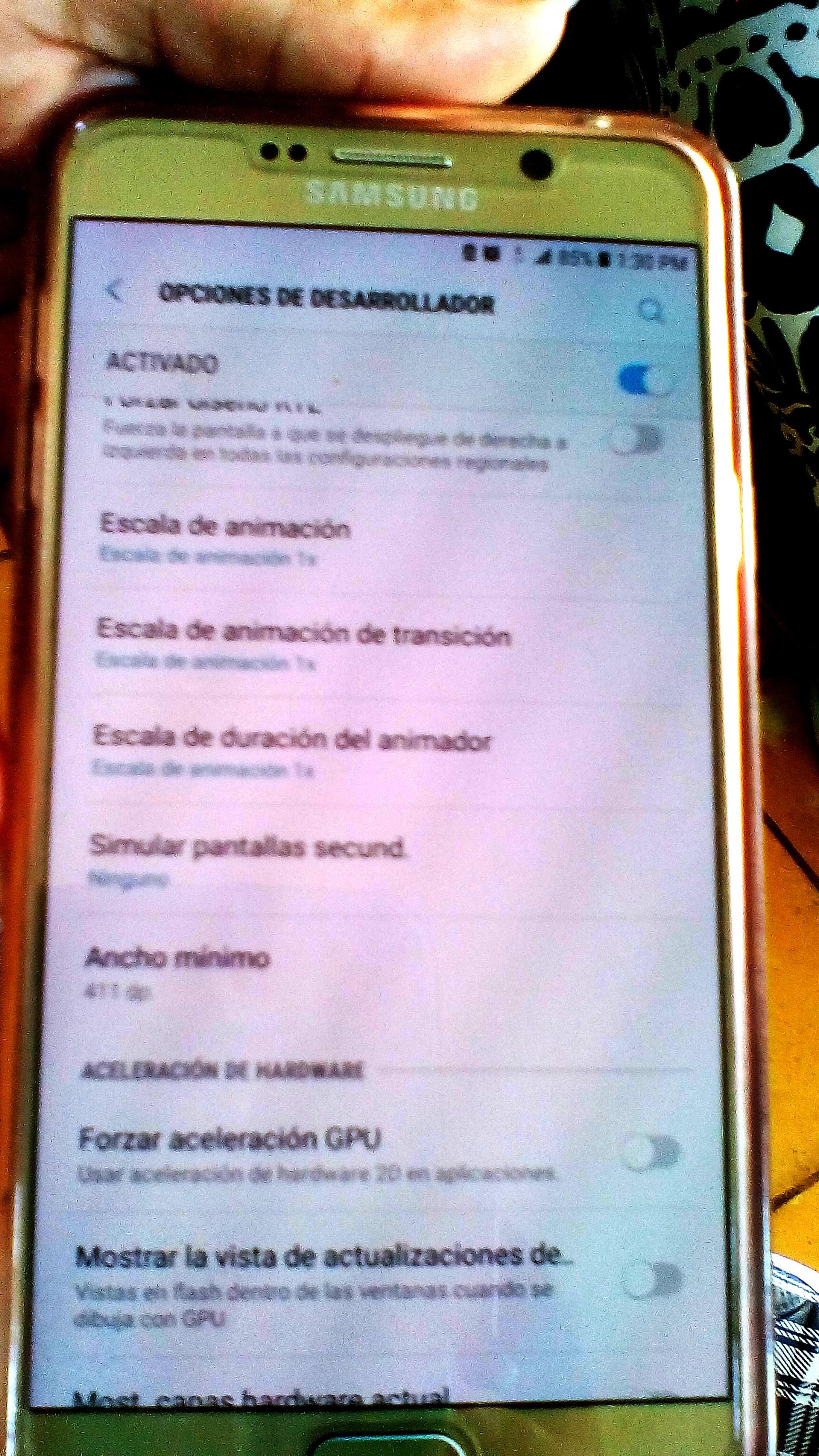 Velocidad del móvil