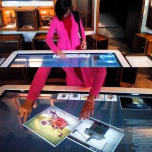 Mesas táctiles. Museo