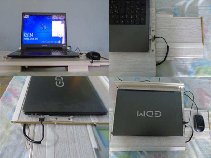 Base de PVC con ventilador para laptop