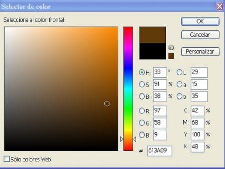 Fig. 8. Valores del color frontal de la imagen.