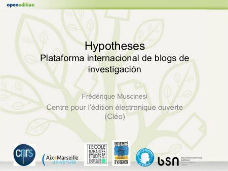 Plataforma para blogs Hypotheses