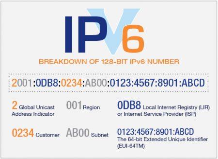 Figura 1. Estructura del protocolo IPv6.