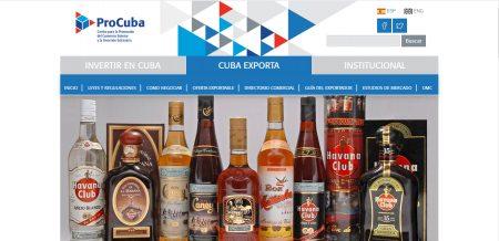 Sitio Web de promoción dl Comercio exterior cubano.