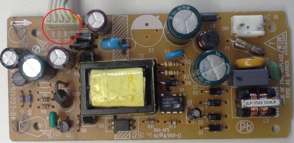 Fuente externa de alimentación de la caja decodificadora procedente del DVD - Revista Tino
