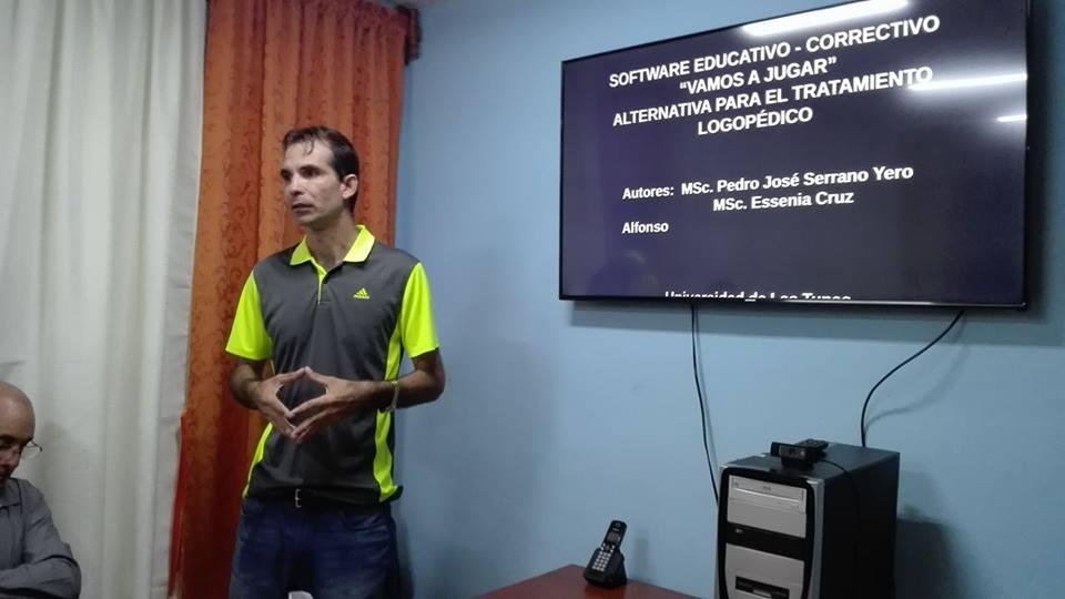 Figura 3. Pedro José Serrano Yero uno de los autores de la colección Software para el tratamiento logopédico. -Revista Tino