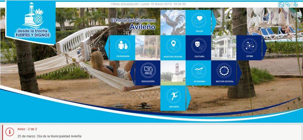 Sitio Web del portal ciudadano en Ciego de ávila - Revista Tino