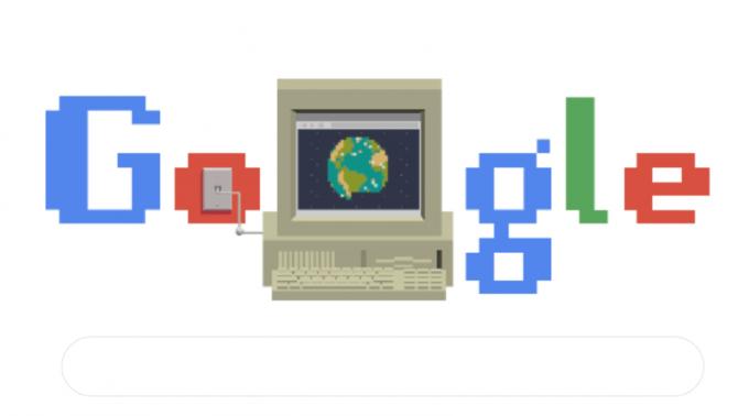 Figura 1. Doodle de Google por el 30 aniversario de Internet. - Revista Tino