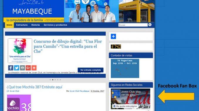 Facebook Fan Box en blog de plataforma Reflejos - Revista Tino