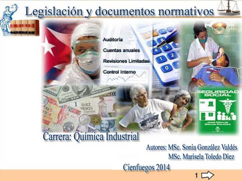 Figura 1. Portada del libro electrónico «Legislación y documentos normativos» - e
