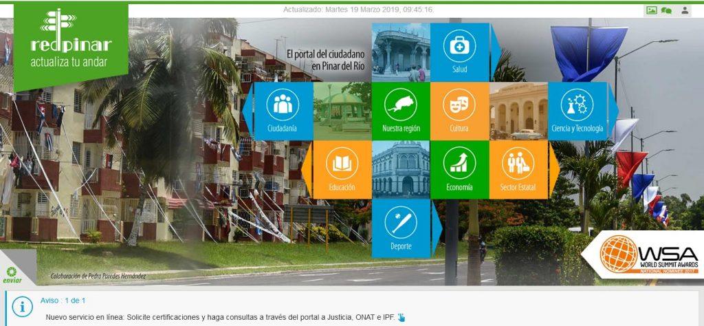 Sitio Web del portal ciudadano en Pinar del Río - Revista Tino