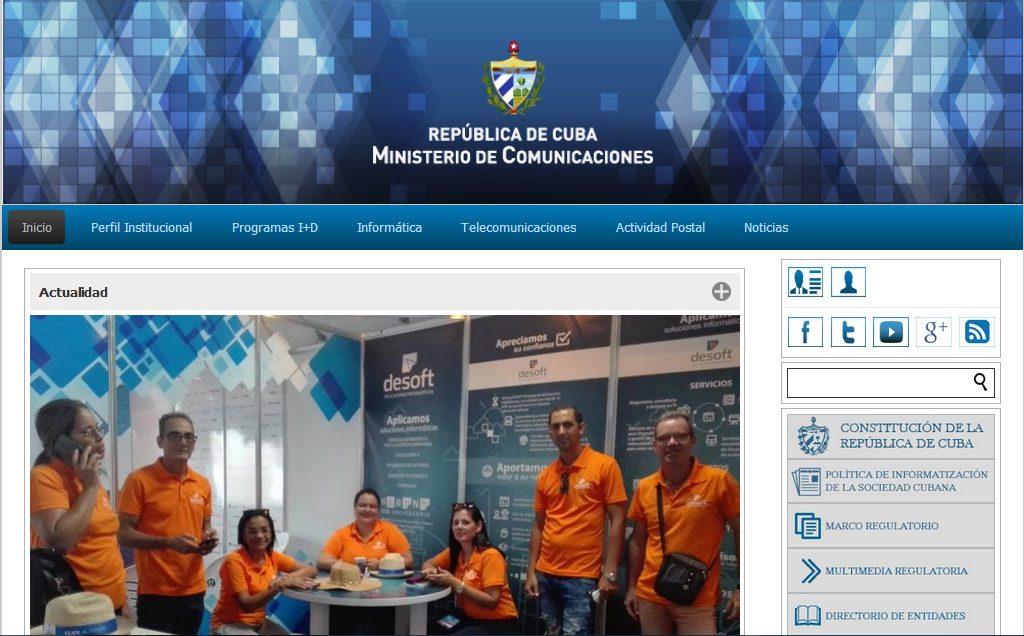 Sitios .cu Ministerio de las Comunicaciones - Revista Tino