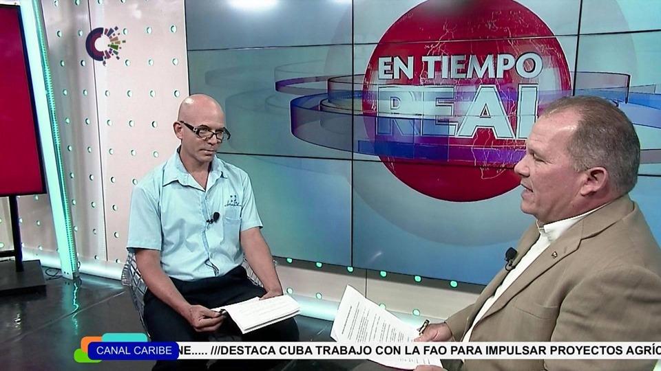 Figura 3. Espacio dedicado a la informatización de la sociedad todos los viernes a las 3:00pm por Caribe, el canal cubano de noticias, - #revistaTino