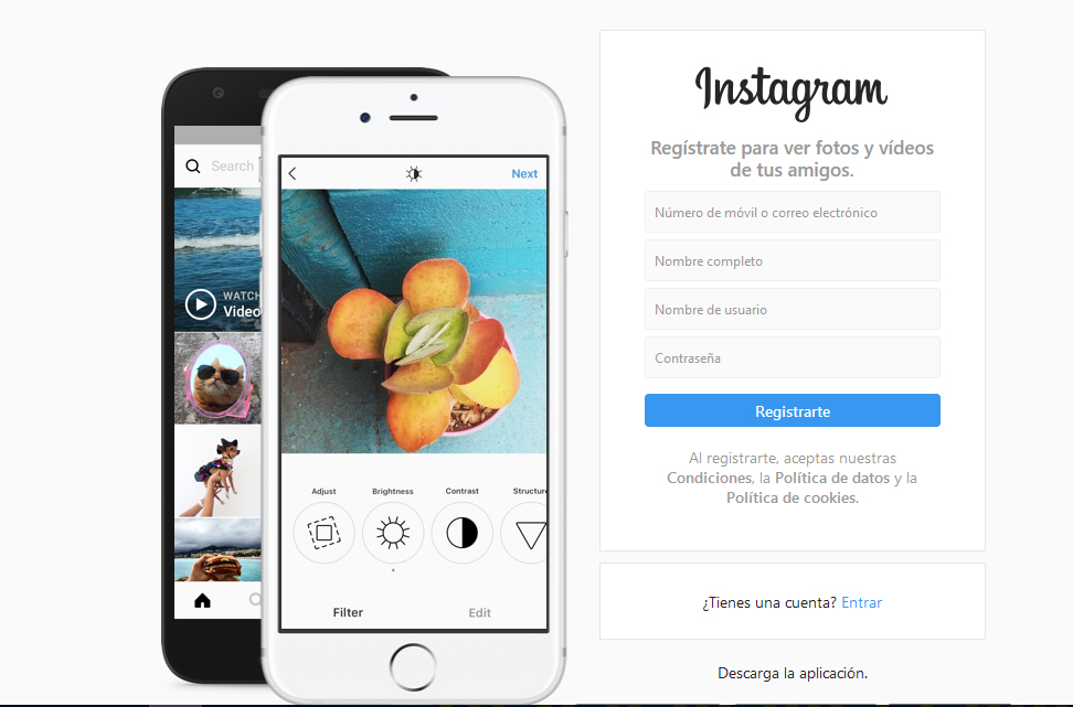 Página de inicio en Instagram - #revistaTino