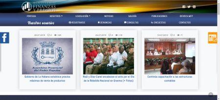 Sitios .cu Ministerio de Finanzas y Precios - #RevistaTino