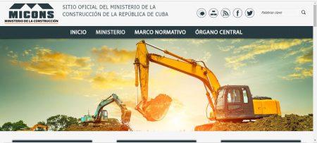 Sitios .cu Ministerio de la Construcción - #RevistaTino