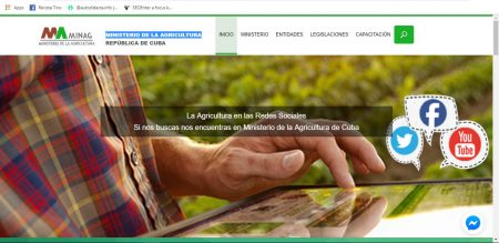 Sitios .cu Ministerio de la agricultura - #RevistaTino