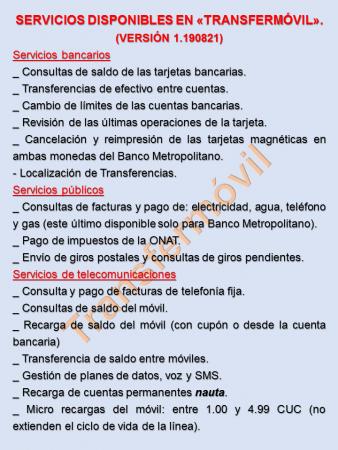 Versión 1.190821 de Transfermóvil - #RevistaTino