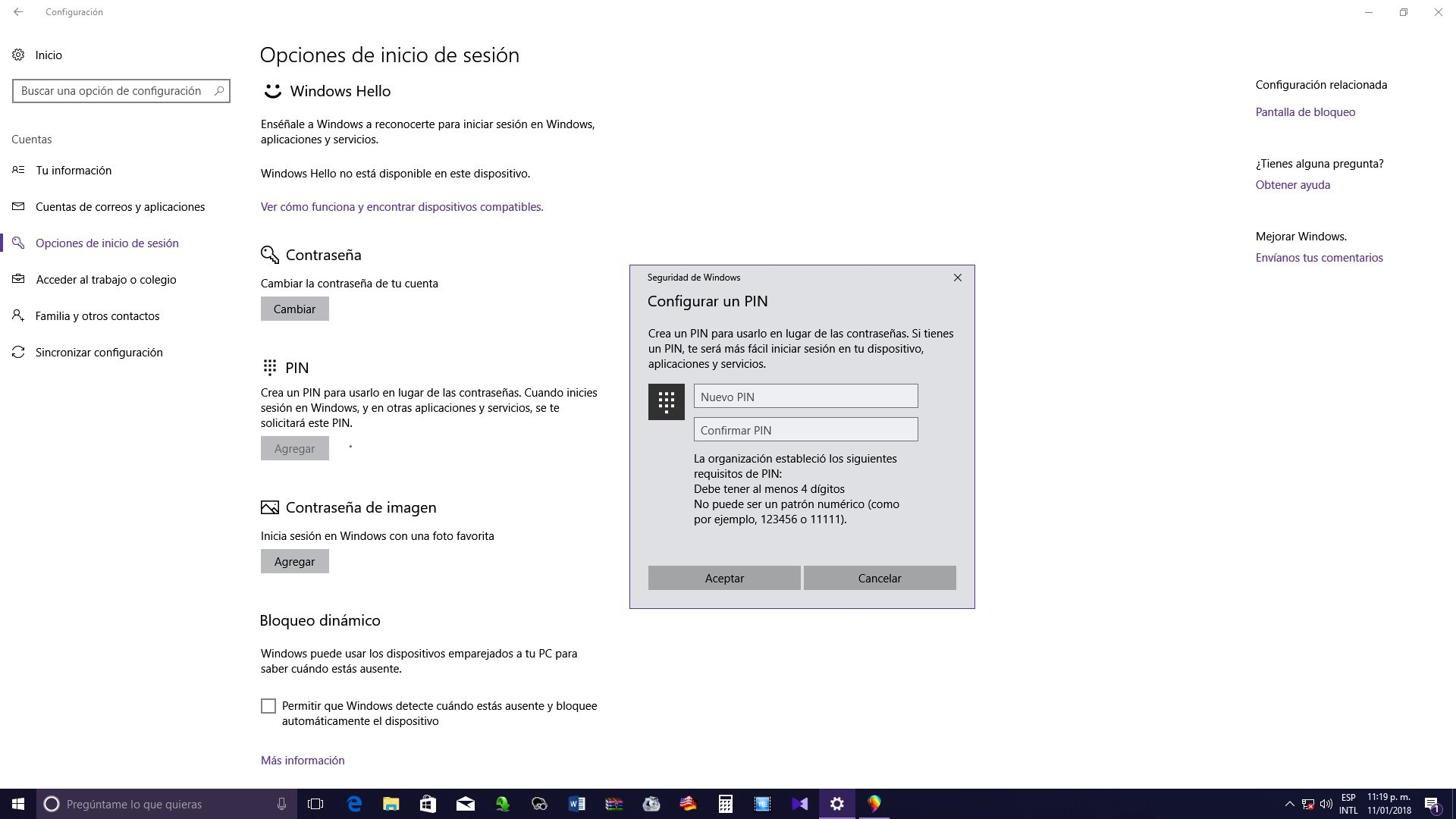 PIN en Windows 10 - #RevistaTino