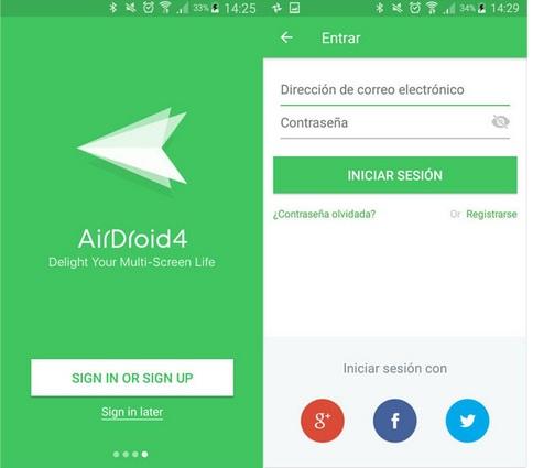Fig. AirDroid para acceder al móvil - #RevistaTino