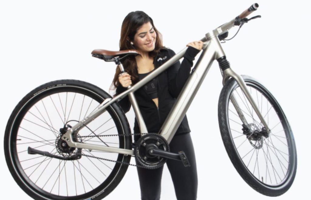 Fig. 2. Bicicleta electrica con sensores de proximidad y desbloqueo biométrico. - #RevistaTino