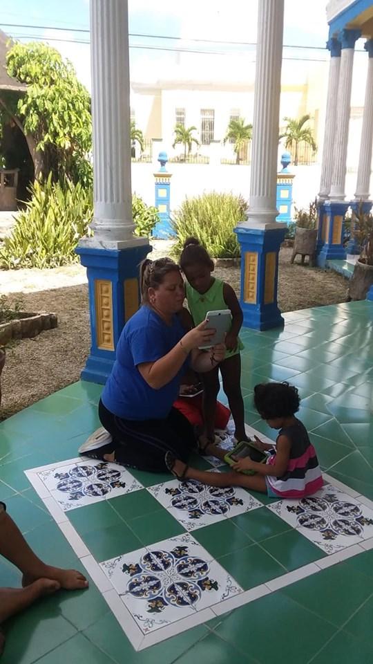 Fig. 1. Joven Club celebran Día de los Niños en el Hogar de Cabaiguán. -#RevistaTino
