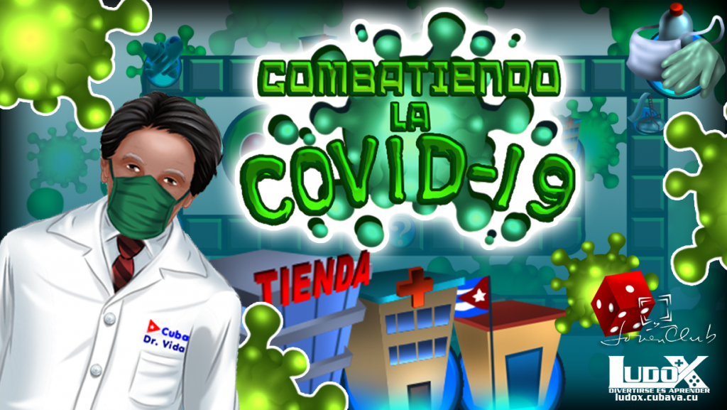 Fig. 1. Videojuego Combatiendo la COVID-19 creado por LUDOX - #RevistaTino