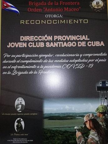 Fig. 3.  Reconocimiento a los Joven Club de la provincia Santiago de Cuba. - #RevistaTino