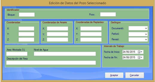 Fig. 1. Recolección de los datos del pozo seleccionado. #Perfil litológico  #RevistaTino