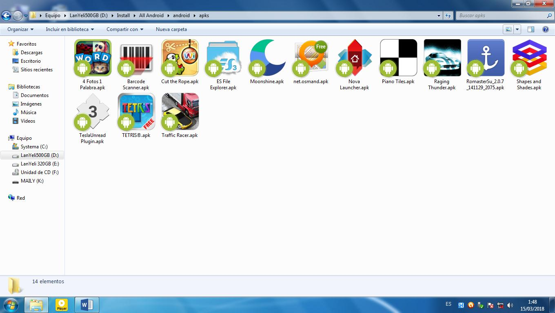 Visualizar iconos de Android en Windows