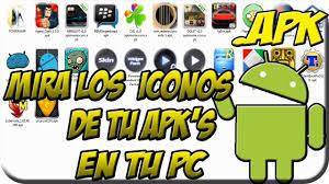 Fig. 1. Aplicación que permite ver en la PC iconos de las APK. Visualizar iconos de Android. #RevistaTino