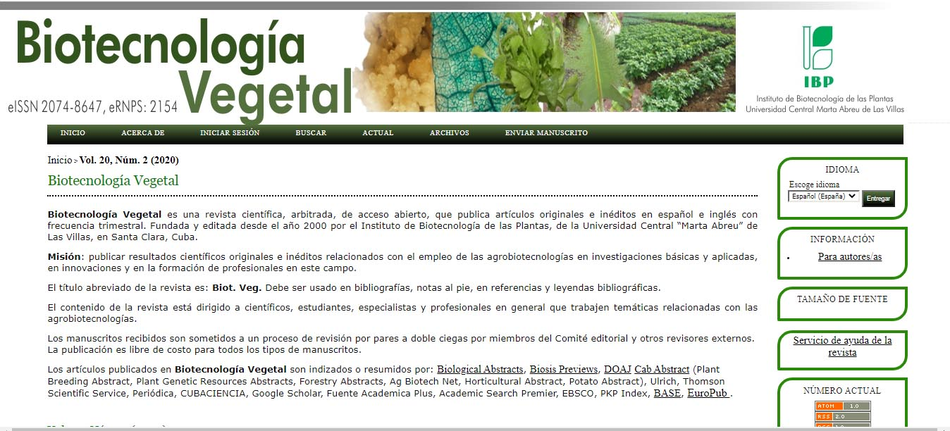 Biotecnología Vegetal - #RevistaTino