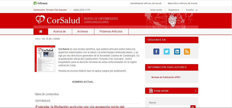 CorSalud: Revista de Enfermedades Cardiovasculares - BioMundi @RevistaTino