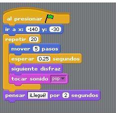 Fig. 1. Scratch tiene un ambiente visual muy amigable. #RevistaTino