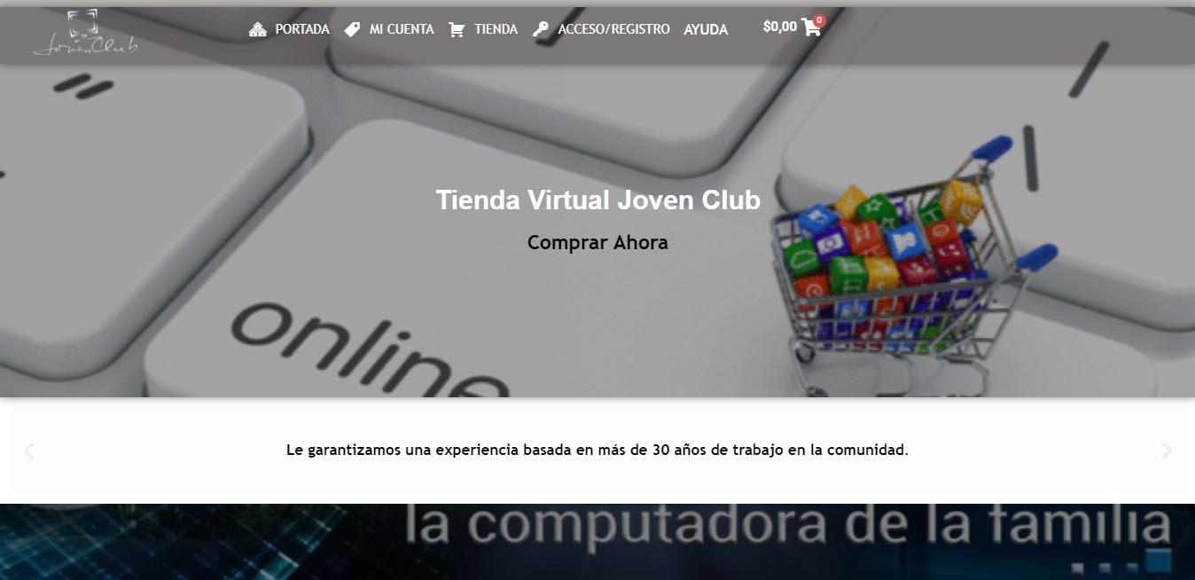 Tienda virtual de Joven Club - #RevistaTino