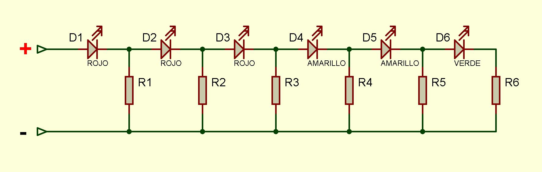 Fig.1. Esquema del circuito. #RevistaTino. Indicador cualitativo